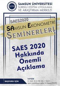 SAES 2020 Hakkında Önemli Açıklama