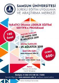 Yaratıcı Drama Liderlik Eğitimi Sertifika Programı