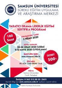 Yaratıcı Drama Liderlik Eğitimi Sertifika Programı-2